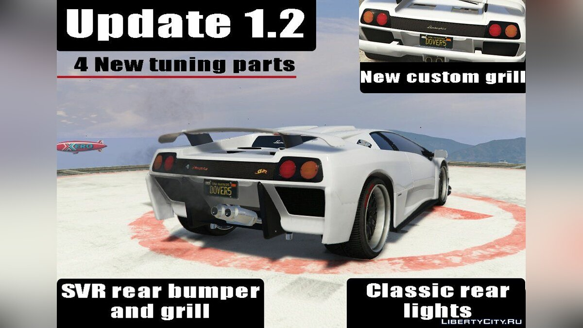 Lamborghini Diablo GTR [Add-On | Tuning | Template] 1.6 для GTA 5 - скриншот #2