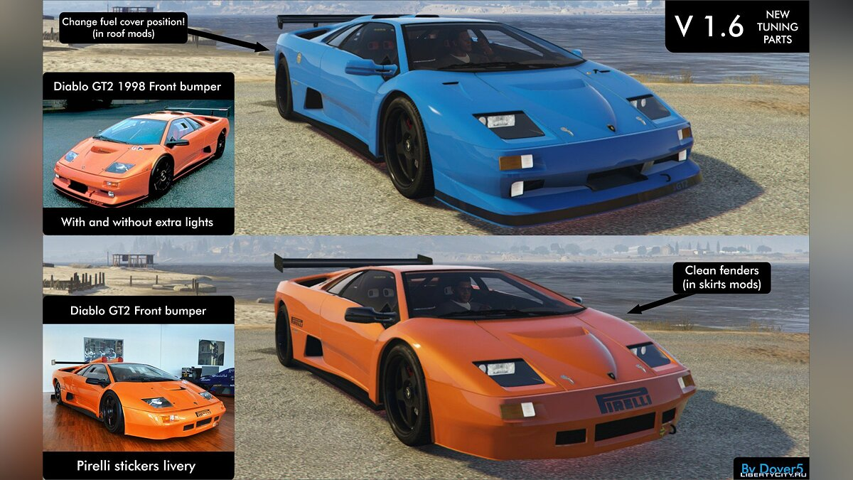 Lamborghini Diablo GTR [Add-On | Tuning | Template] 1.6 для GTA 5