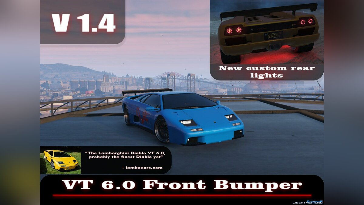 Lamborghini Diablo GTR [Add-On | Tuning | Template] 1.6 для GTA 5 - скриншот #7
