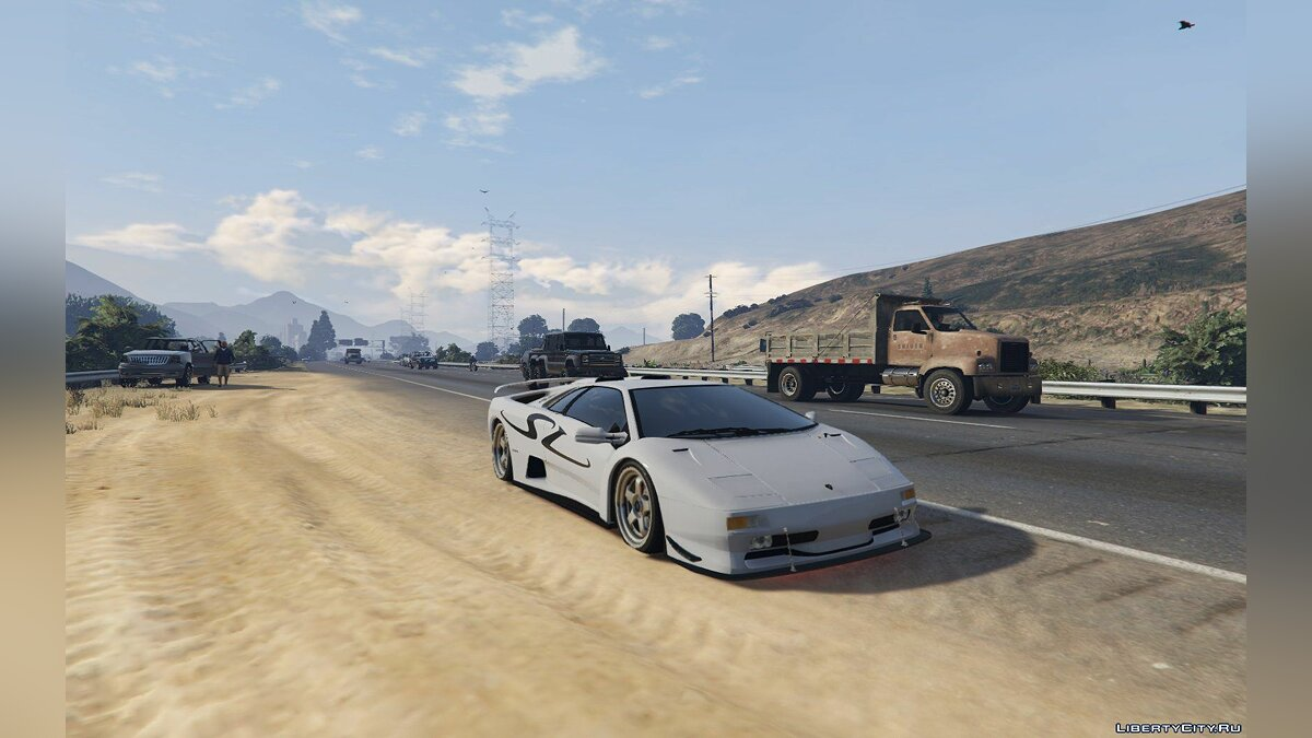Lamborghini Diablo GTR [Add-On | Tuning | Template] 1.6 для GTA 5 - скриншот #11