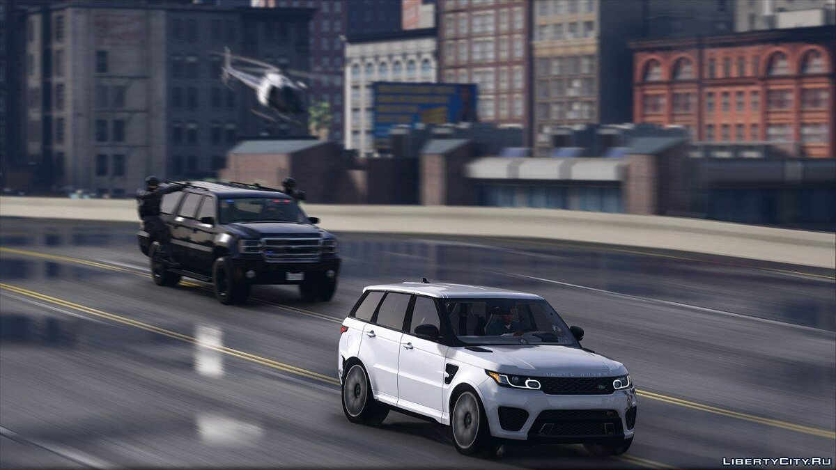 Машина Land Rover Range Rover Sport SVR 2016 [Animated / Templated / Add-On] 3.1 для GTA 5