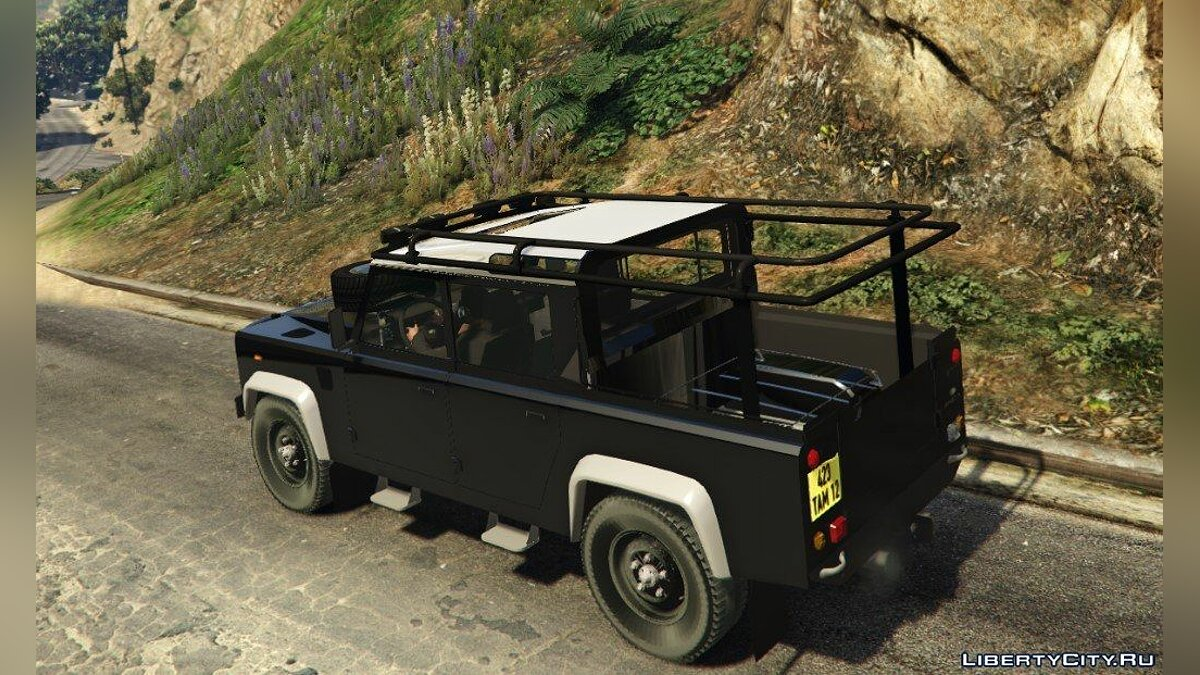 Land Rover Defender 110 Pickup для GTA 5 - скриншот #2