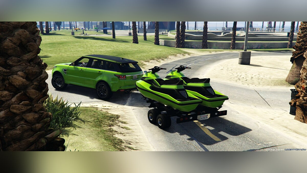 Машина Land Rover Trailer with Jetski's 1.1 для GTA 5