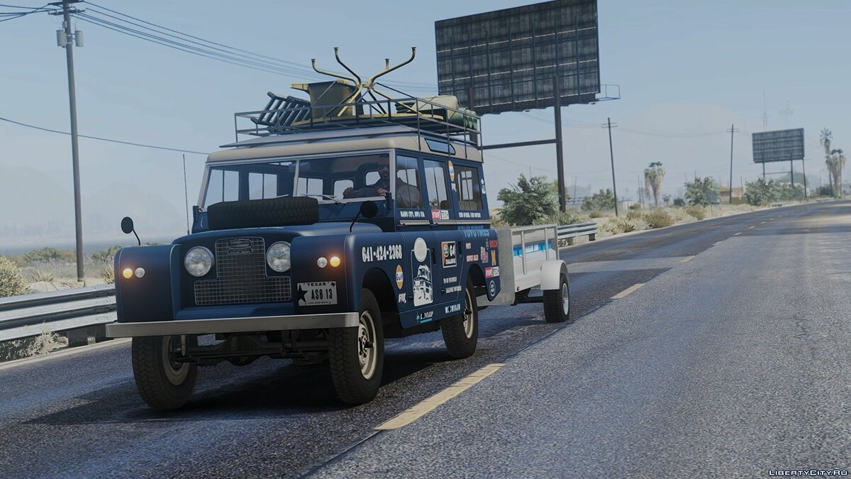 Машина Land Rover 1971 Land Rover Series II Model 109A HQ [Add-On] [Template/Liveries] [Dirt Mapping] для GTA 5