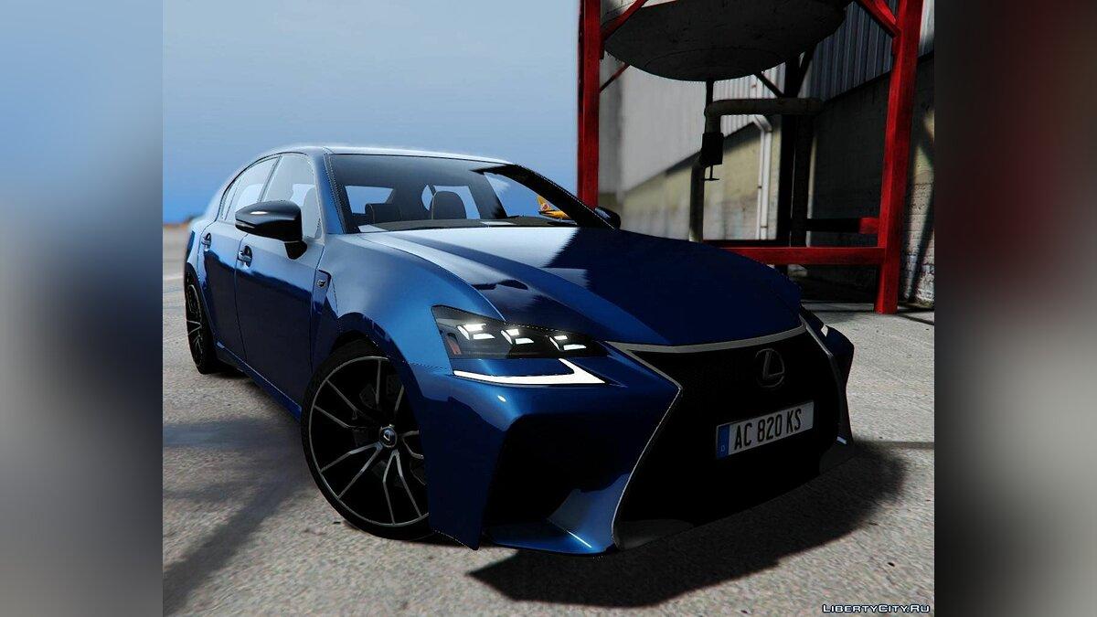 Машина Lexus 2019 Lexus GS F [HQ/Add-On] v1.1 для GTA 5