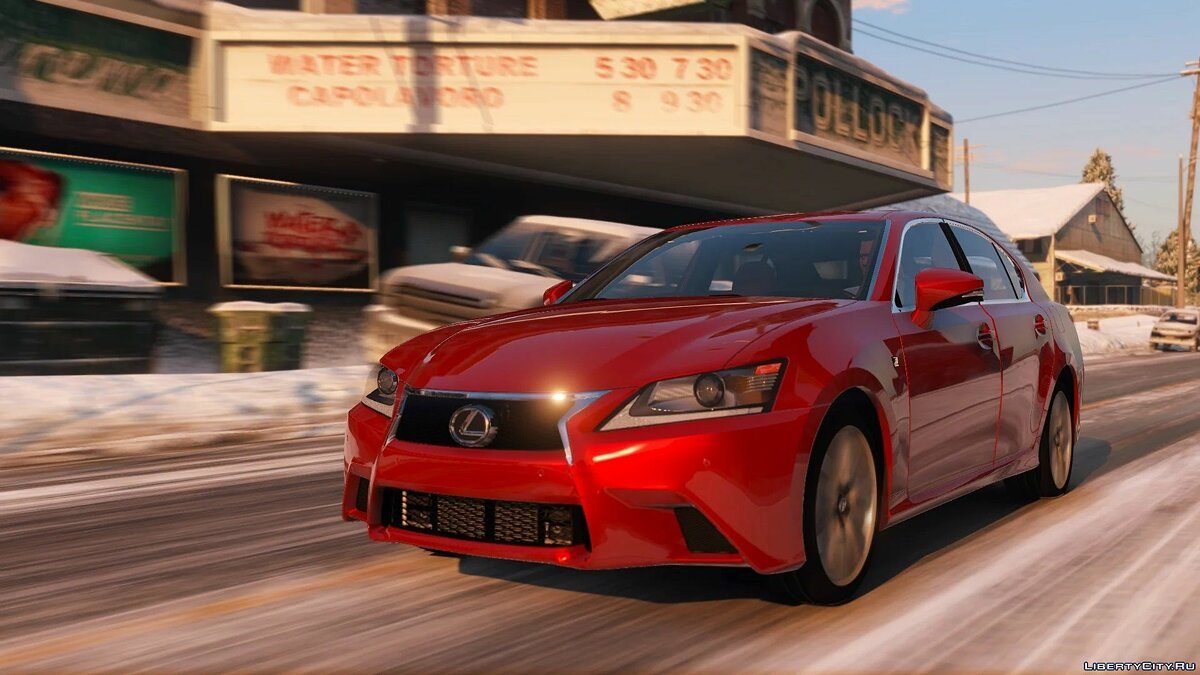Машина Lexus Lexus GS 350F Sport [Add-On | LODs | Template] 1.0 для GTA 5