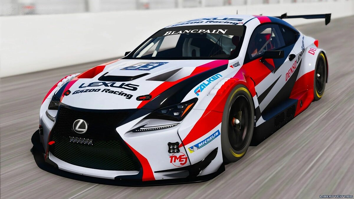 Машина Lexus Lexus RC-F GT3 2016 [Add-On / Replace | Unlocked / Z3d] для GTA 5