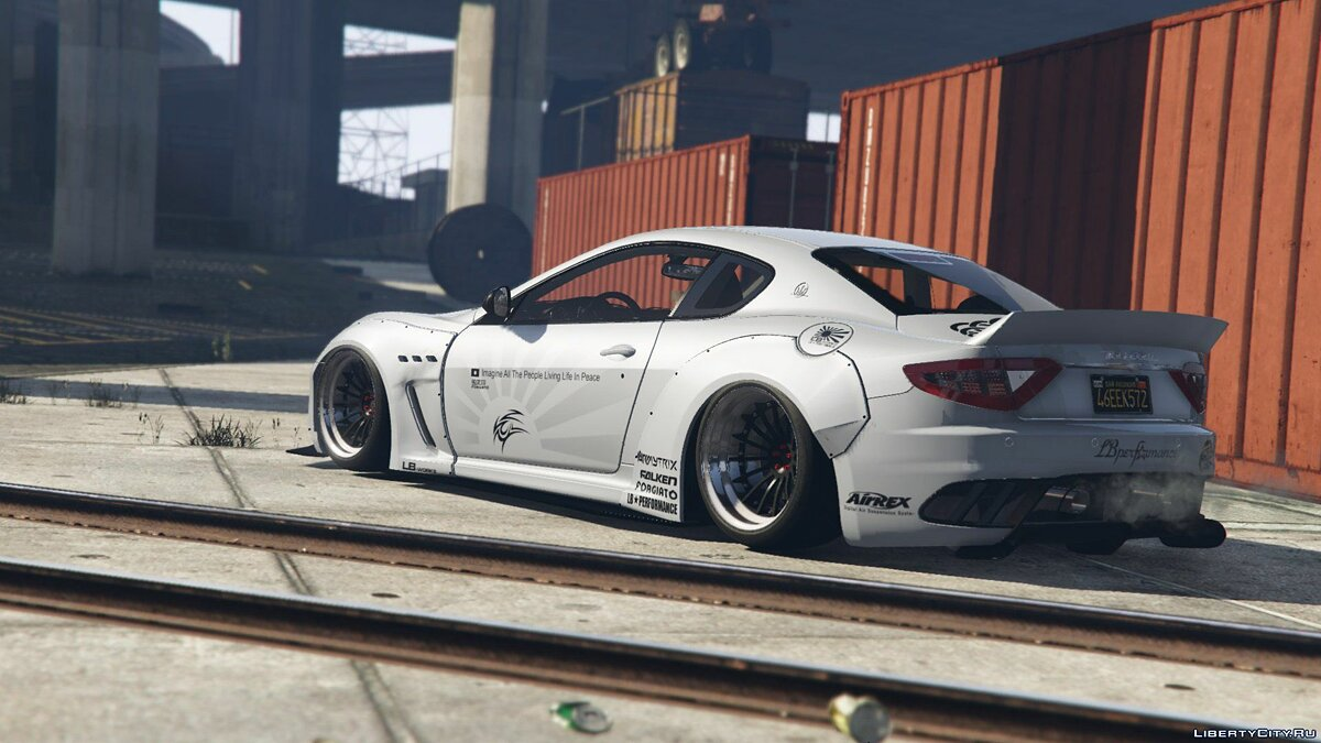 Машина Maserati 2013 Maserati GranTurismo MC Stradale Liberty Walk [Add-On | Template | Liveries | Custom Rims] 1.0 для GTA 5