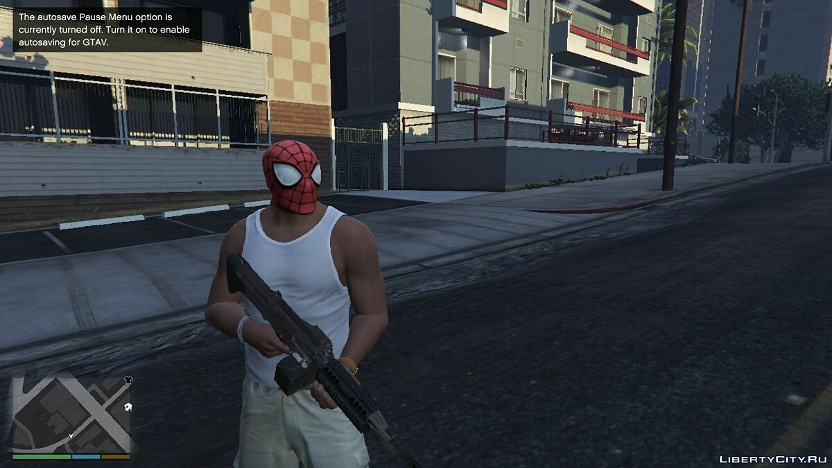 Новая маска SpiderMan Mask for Franklin для GTA 5