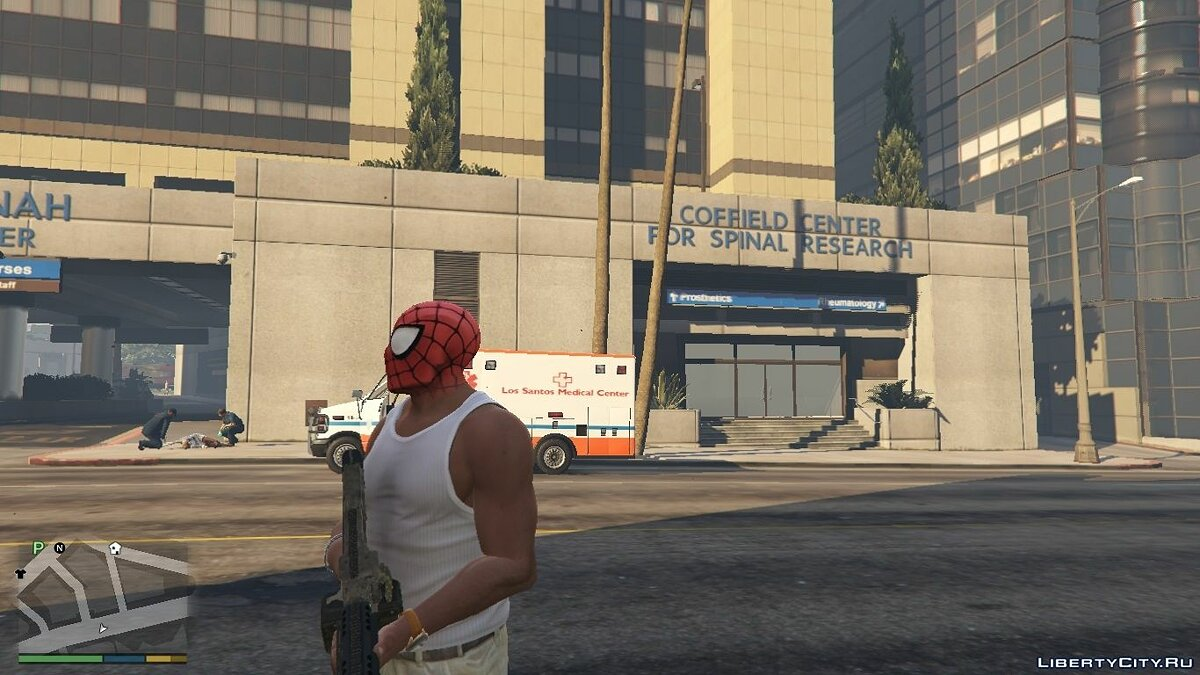 SpiderMan Mask for Franklin для GTA 5