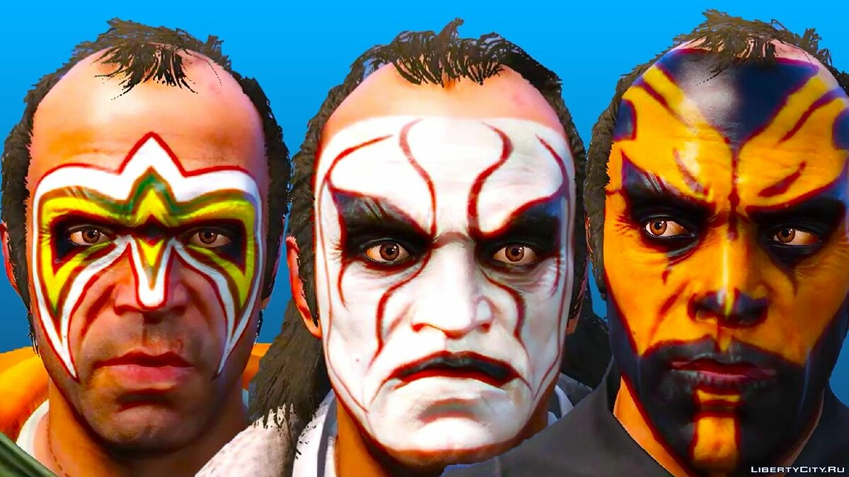 Новая маска WWE Face-Paint Pack 3.0 для GTA 5