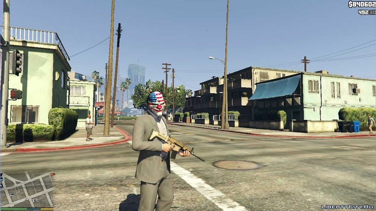 PAYDAY 2 Dallas Mask для GTA 5
