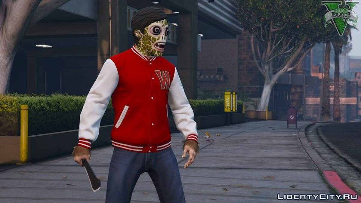Новая маска Halloween DLC masks for Free mode Male + Female для GTA 5