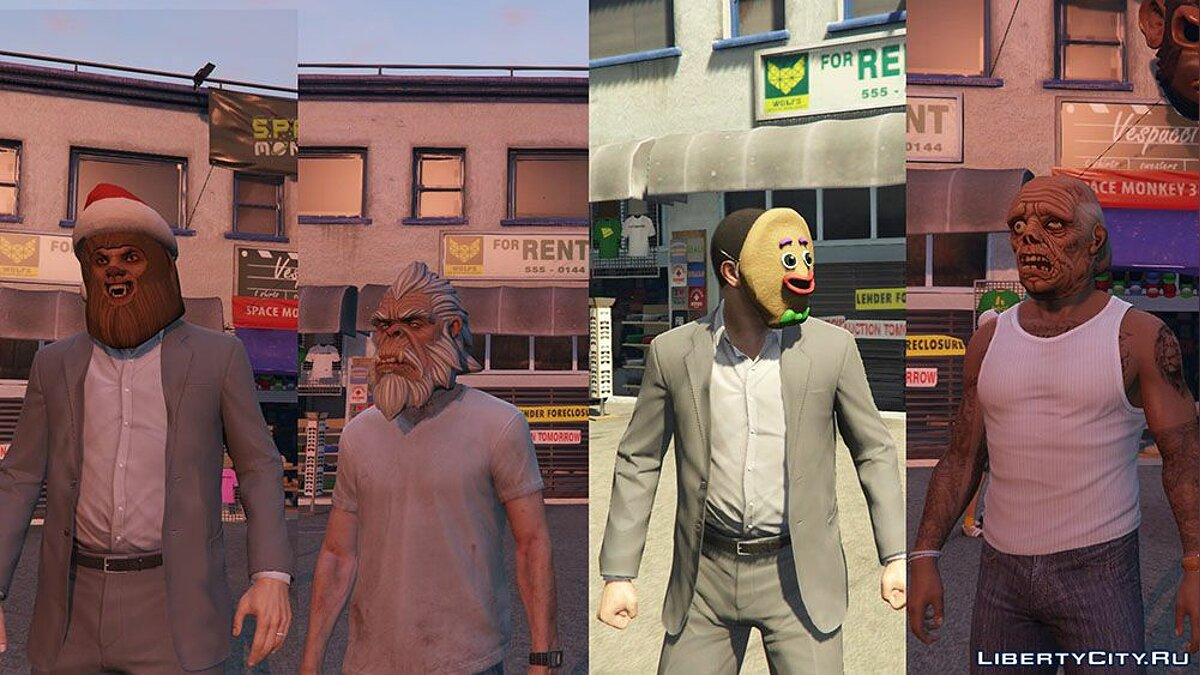��овая маска Masks From Online GTA V v2.1 для GTA 5