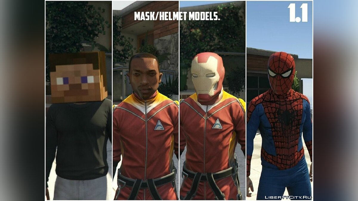 New Mask & Helmet Models 1.2 для GTA 5