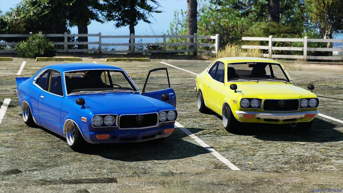 1973 Mazda RX-3 [Add-On] 1.1 для GTA 5 - скриншот #3