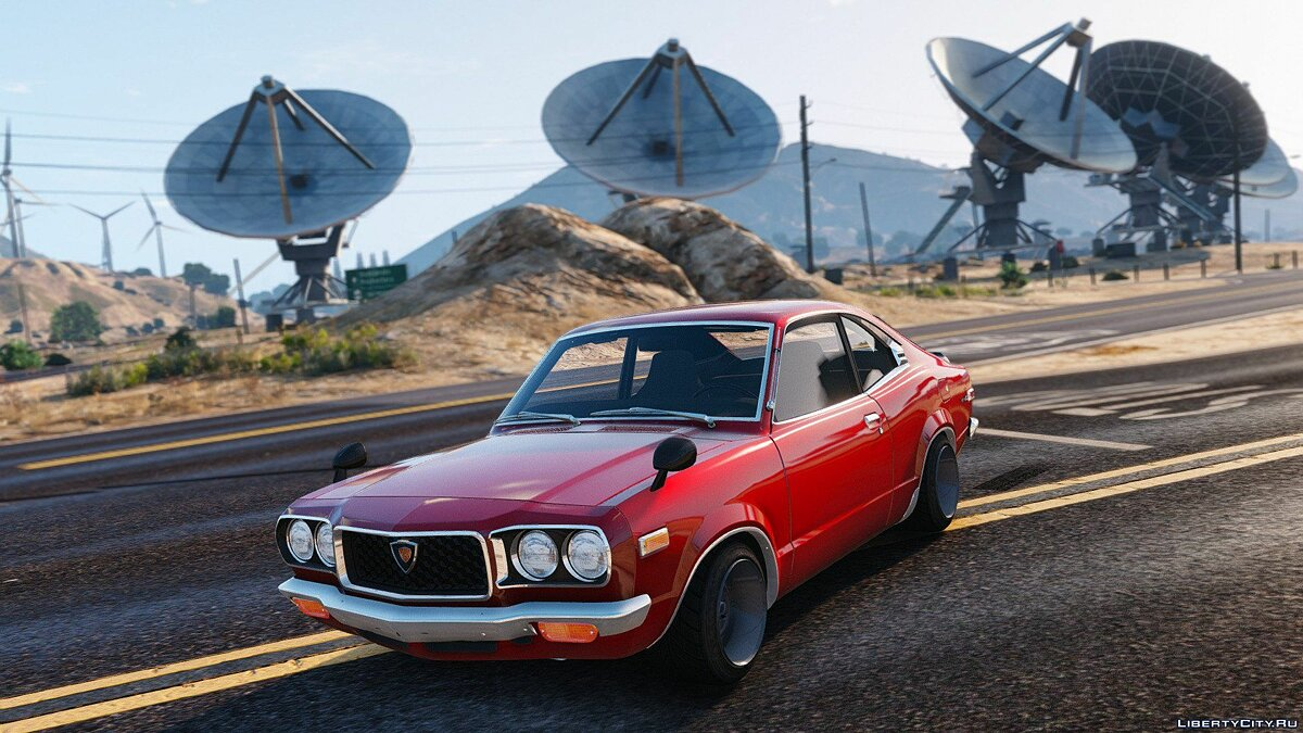 1973 Mazda RX-3 [Add-On] 1.1 для GTA 5 - скриншот #4