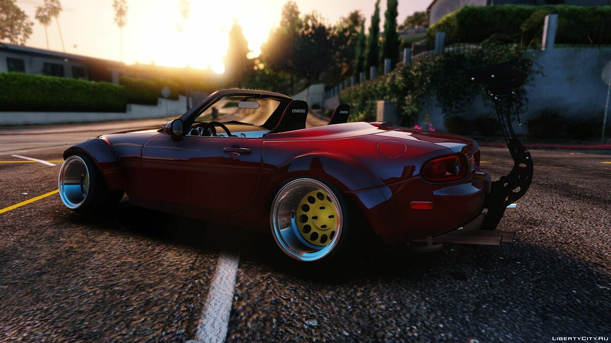 Mazda MX5 Widebody Stanced [Add-On] 1.1 для GTA 5 - скриншот #6