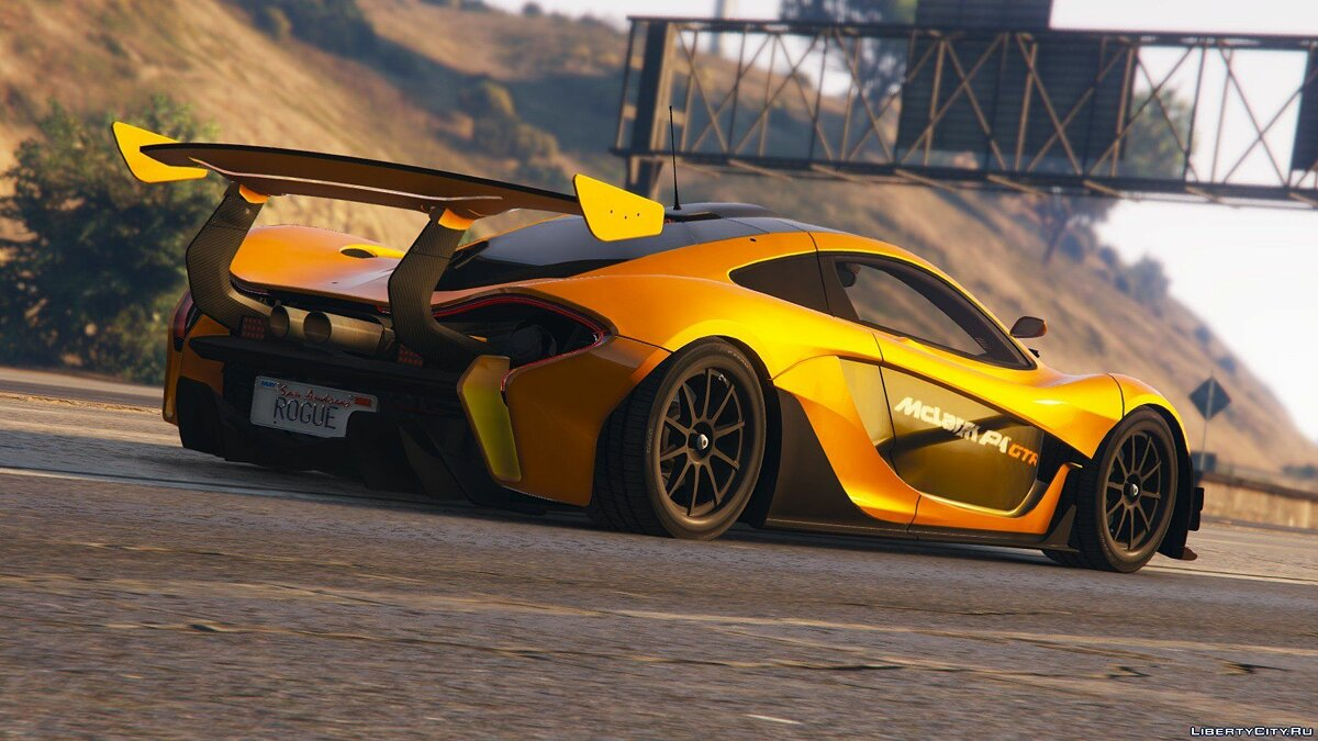 Машина McLaren McLaren P1 GTR Road Legal [Add-On / Replace] 1.0 для GTA 5