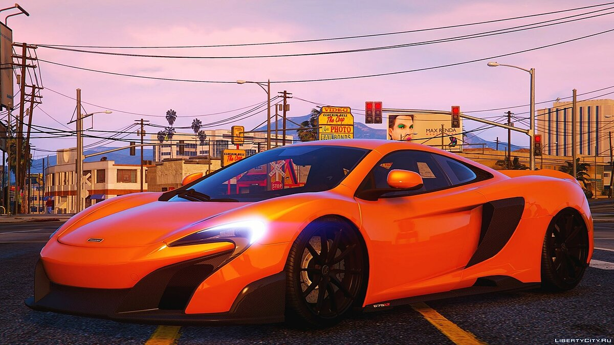 ��ашина McLaren 2016 McLaren 675LT Coupe [Add-On / Replace] 2.2.1 для GTA 5