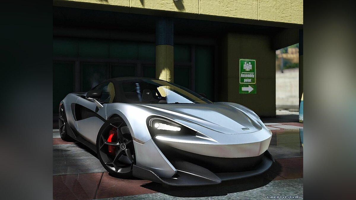 Машина McLaren McLaren 600LT 2019 [Add-On | Dirtmap | Digital Dials | Scissor Doors ] Final для GTA 5