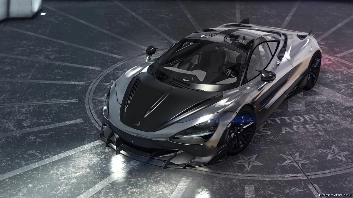 Машина McLaren Mclaren 720S topcar Fury [Add-On] 1.2 для GTA 5