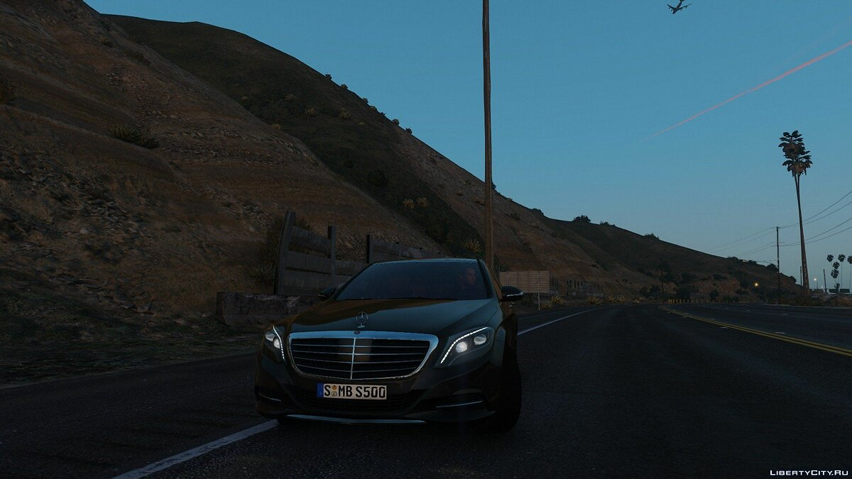 ��ашина Mercedes-Benz XPERIA's 2014 Mercedes-Benz S500 L / S550 for GTAV 1.41 and the future version 1.01 для GTA 5