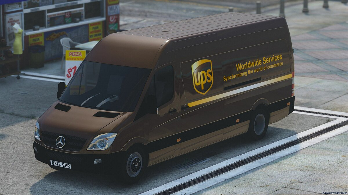 2013 Cargo Delivery Mercedes Sprinter 1.0 для GTA 5 - скриншот #6
