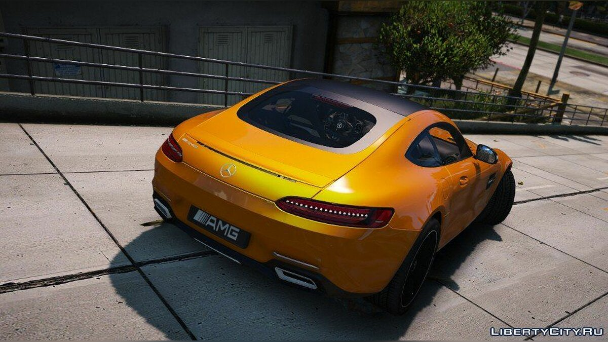 Mercedes-AMG GT S 2016 [Add-On / Replace / Auto Spoiler] 1.0 для GTA 5 - скриншот #6