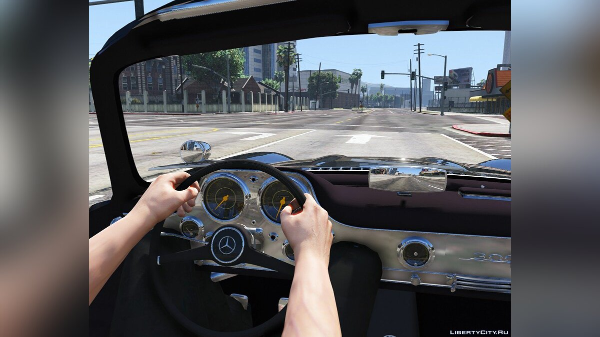 1955 Mercedes-Benz 300SL Gullwing [Tuning] 2.0 для GTA 5 - скриншот #3