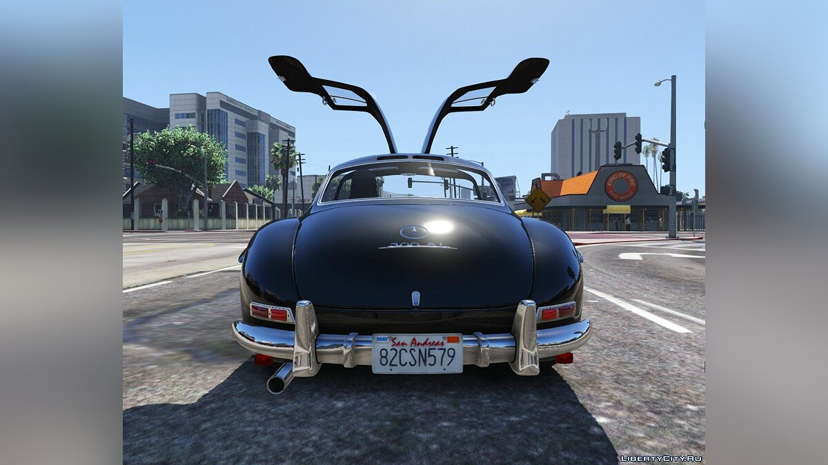 1955 Mercedes-Benz 300SL Gullwing [Tuning] 2.0 для GTA 5 - скриншот #4