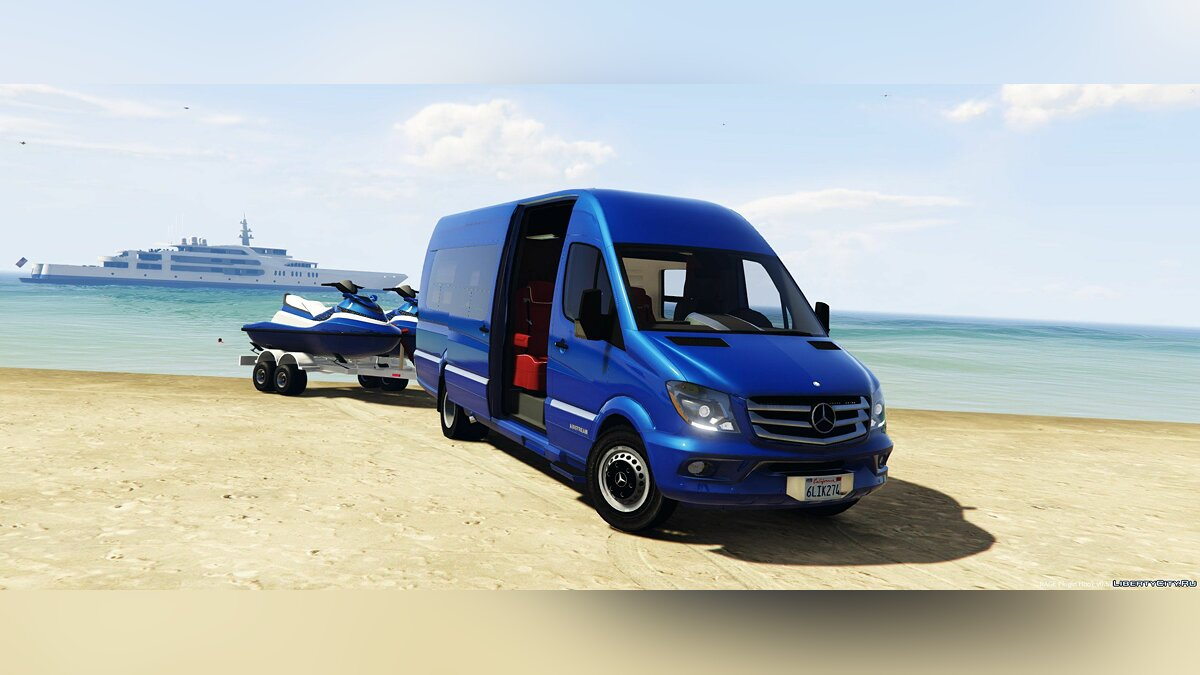 Машина Mercedes-Benz Mercedes Sprinter Airstream [BETA] 1.1 для GTA 5