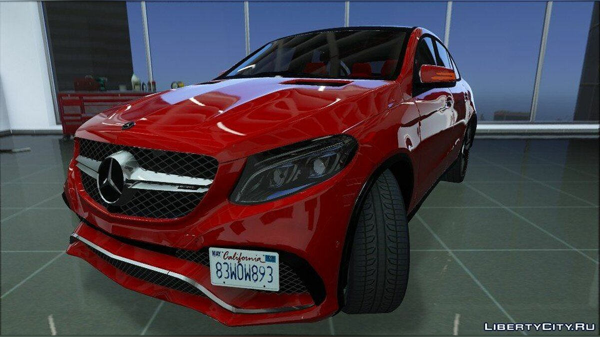 ��ашина Mercedes-Benz Mercedes-Benz GLE 63S AMG (Add-on/Replace) 1.0 для GTA 5