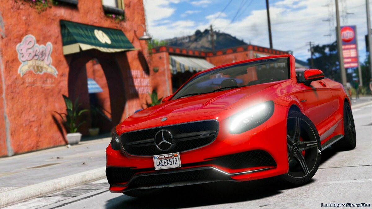 Mercedes S63 AMG Cabriolet [Replace] 1.0 для GTA 5
