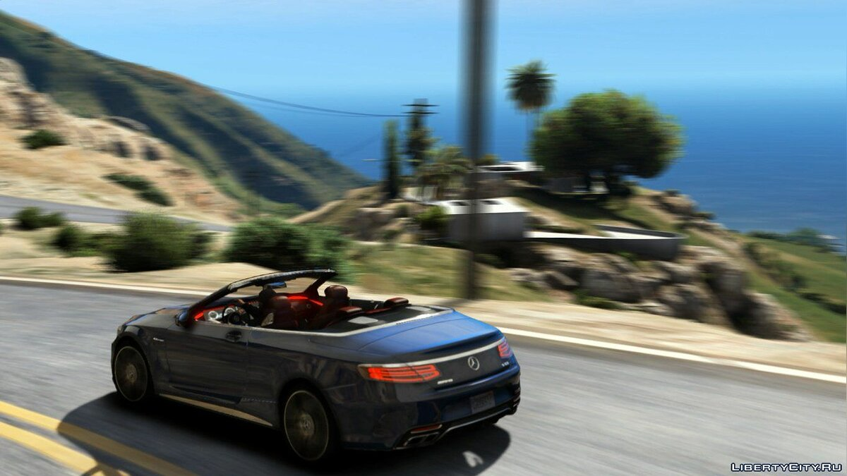 Mercedes S63 AMG Cabriolet [Replace] 1.0 для GTA 5 - скриншот #4