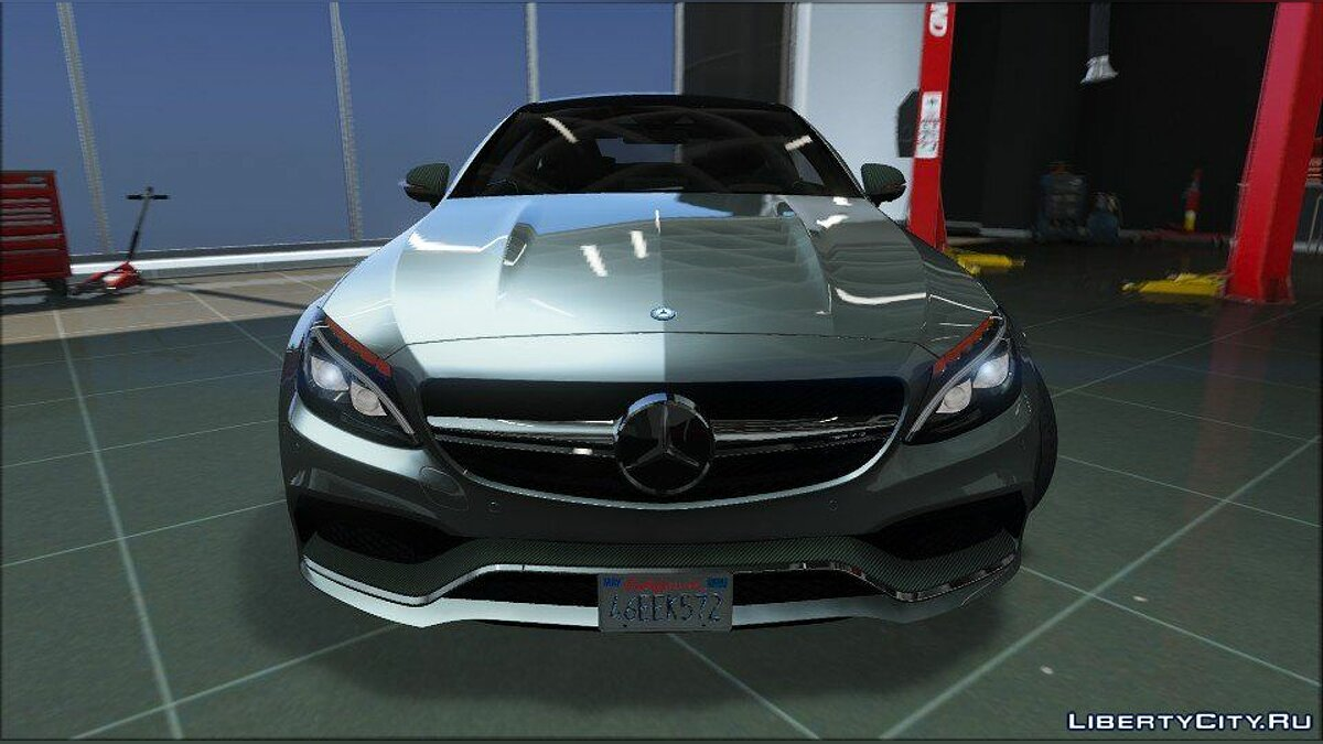 ��ашина Mercedes-Benz Mercedes-Benz C63 Coupe AMG (Add-on/Replace) 1.0 для GTA 5