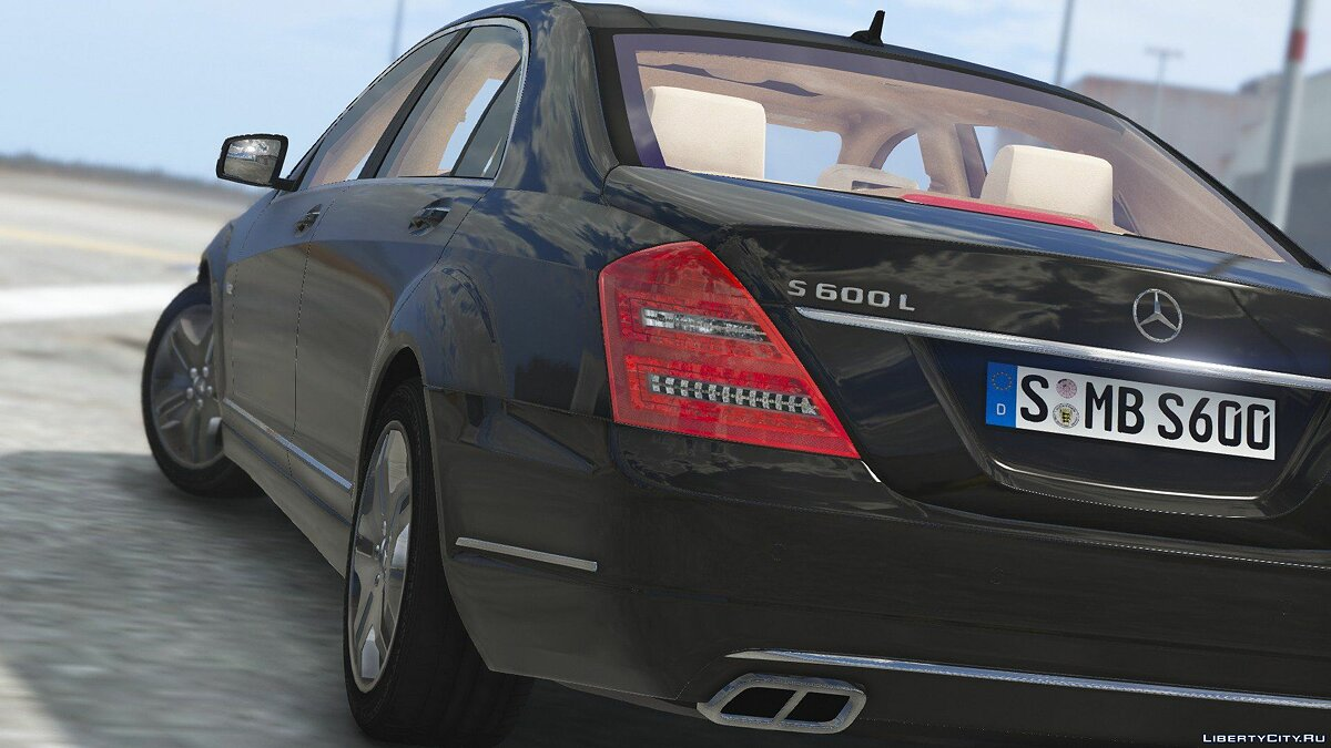 2010 Mercedes-Benz S600 L [Add-On | Tuning] 1.0 для GTA 5 - скриншот #3