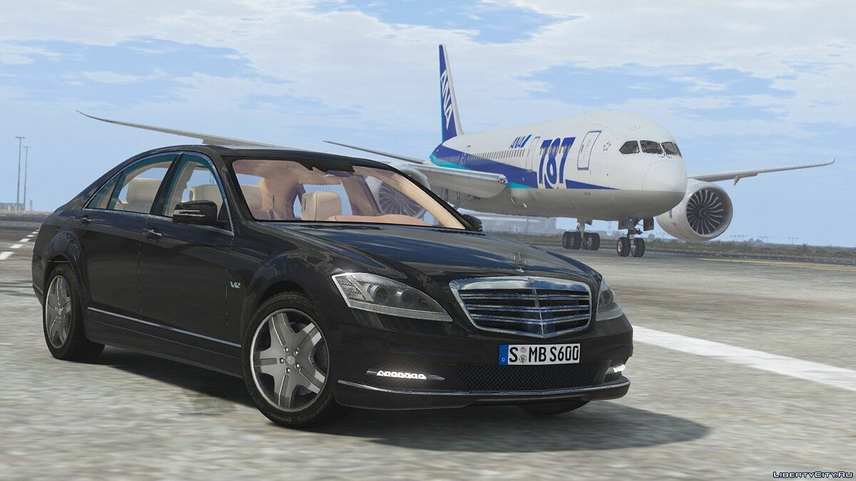 2010 Mercedes-Benz S600 L [Add-On | Tuning] 1.0 для GTA 5 - скриншот #4