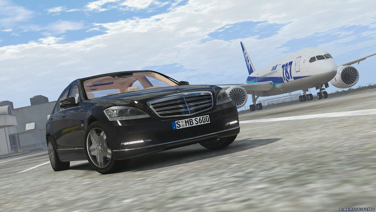 2010 Mercedes-Benz S600 L [Add-On | Tuning] 1.0 для GTA 5 - скриншот #7