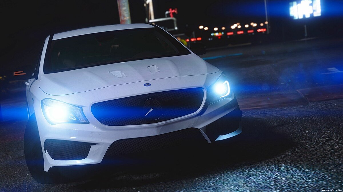 Mercedes-Benz CLA45 AMG Black [DTD Edition] 1.0 для GTA 5 - скриншот #3