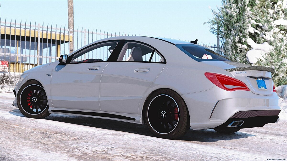 Mercedes-Benz CLA45 AMG Black [DTD Edition] 1.0 для GTA 5 - скриншот #7