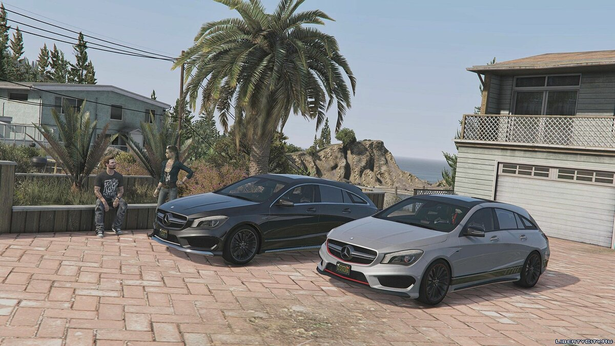 Машина Mercedes-Benz 2016 Mercedes-AMG CLA 45 Shooting Brake [Chromed-& Blacked out] v3 для GTA 5