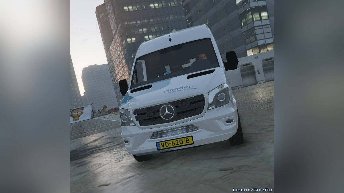 Mercedes Benz Sprinter 2015 Liander Elektriciteitsbedrijf [REPLACE/ELS/3 ORANGE PITS!] 1.0 для GTA 5