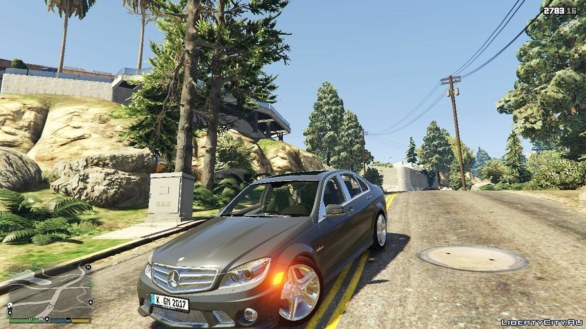 Mercedes-Benz C63 AMG + Sound 1.00 для GTA 5