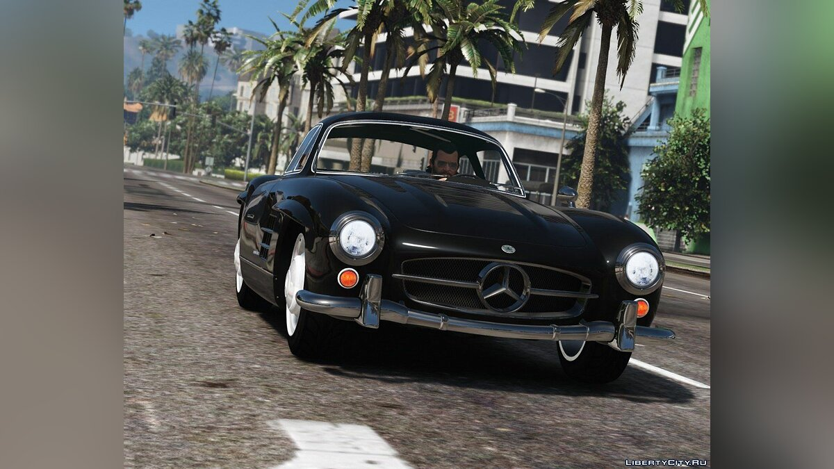 1955 Mercedes-Benz 300SL Gullwing [Add-On / Replace | Tuning] 2.4 для GTA 5 - Картинка #1