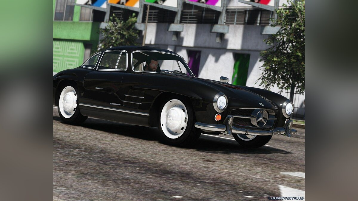 1955 Mercedes-Benz 300SL Gullwing [Add-On / Replace | Tuning] 2.4 для GTA 5 - Картинка #3
