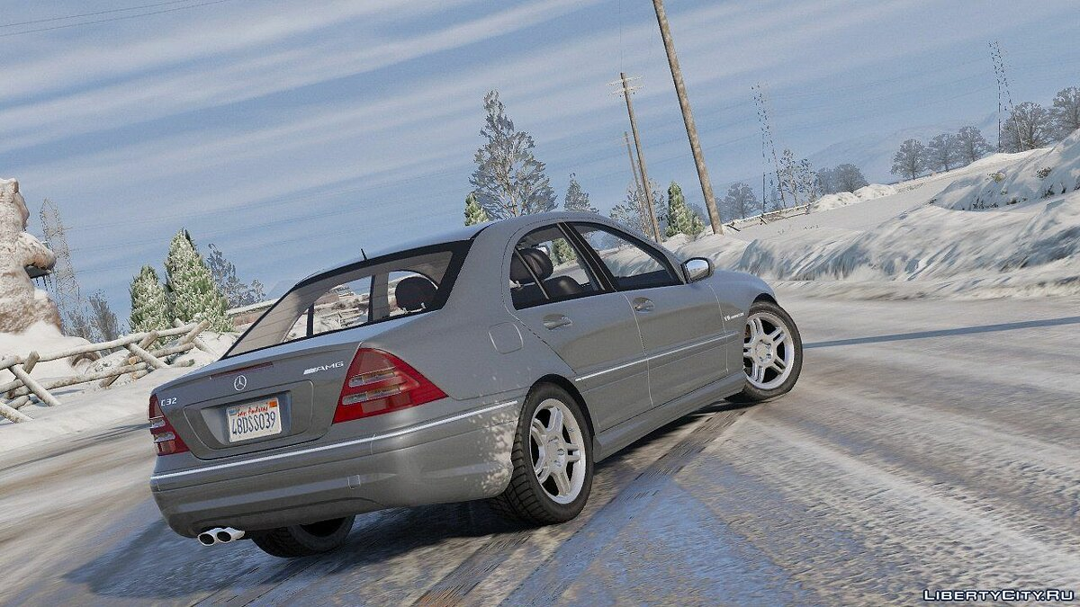 ��ашина Mercedes-Benz Mercedes-Benz C32 AMG 2004 [Add-On / Replace | HQ] 1.0 для GTA 5