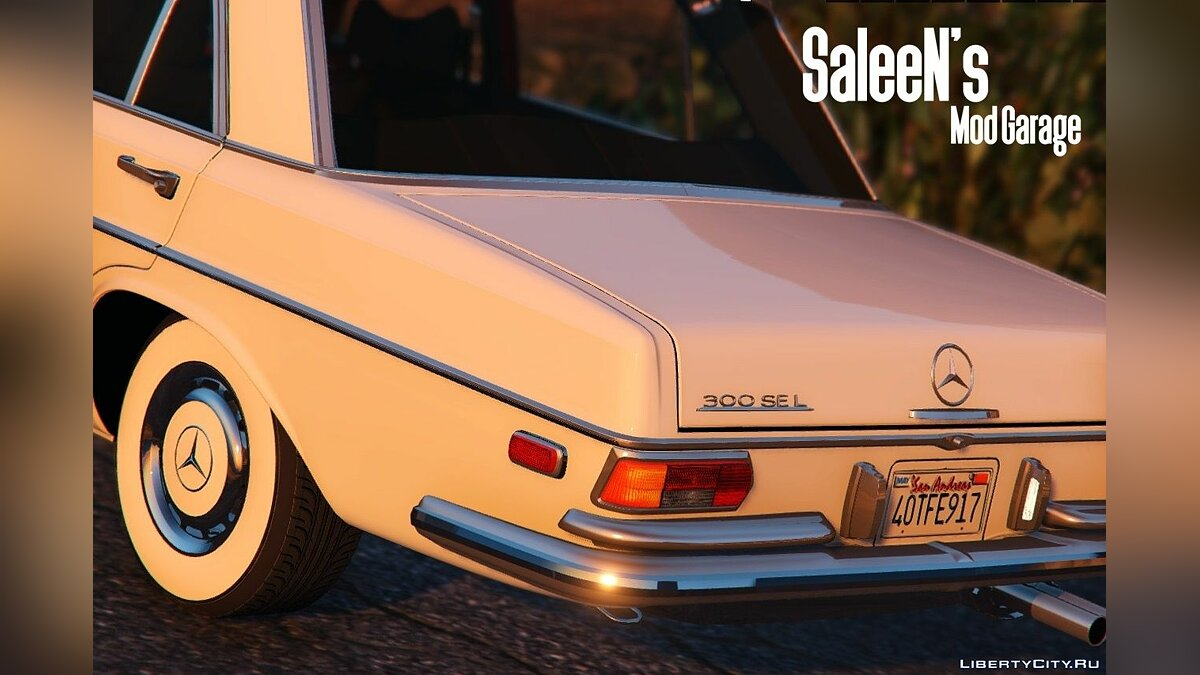 1972 Mercedes Benz 300SEL 6.3 [Replace] для GTA 5 - скриншот #3