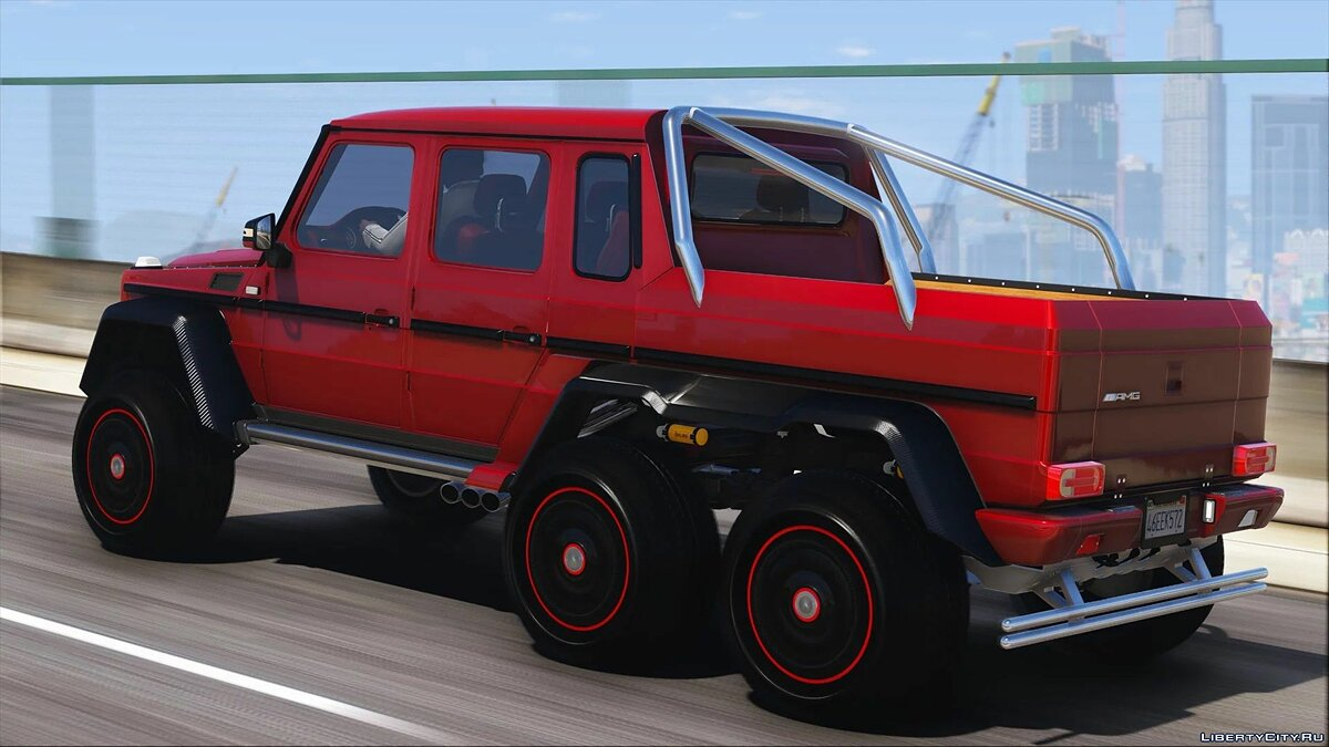 Машина Mercedes-Benz Mercedes-Benz G63 AMG 6x6 [Add-On | Tuning | Template] 1.0 для GTA 5