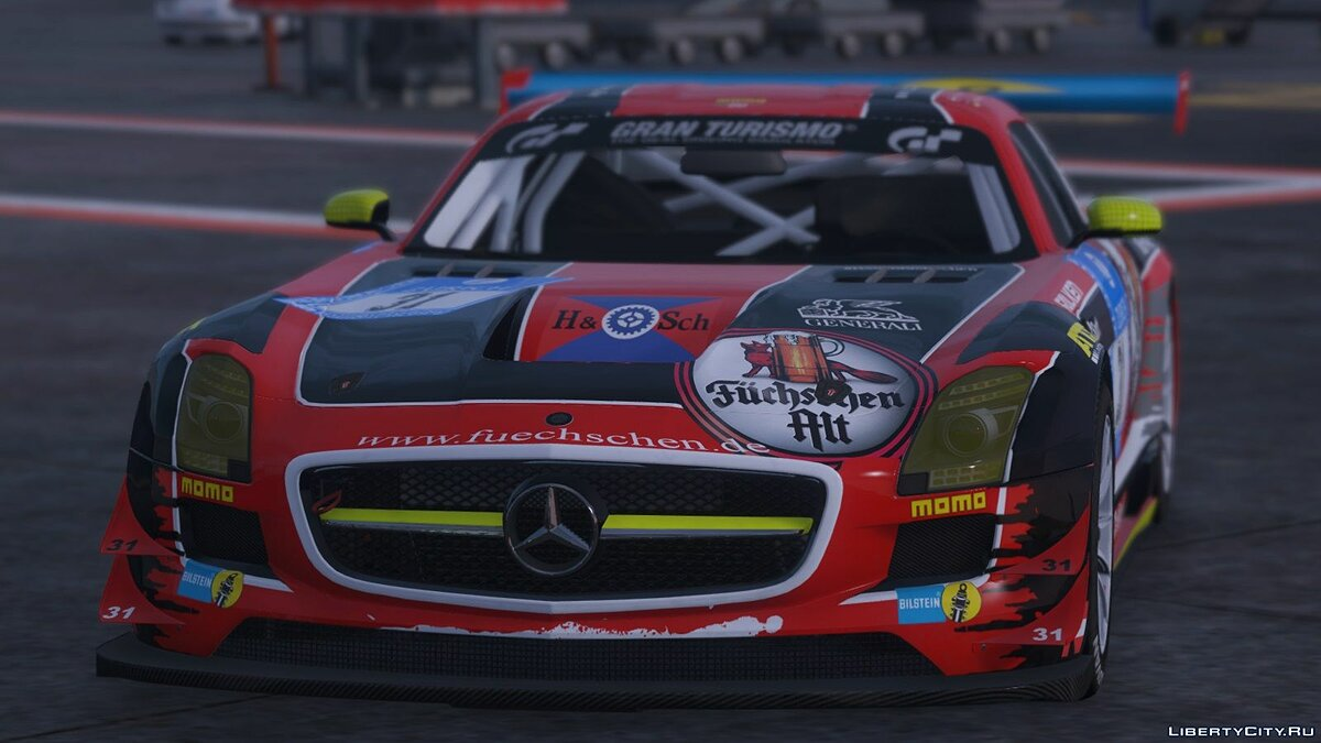 Mercedes Benz SLS AMG GT3 [Add-On | Replace | Livery | Template] 2.0 для GTA 5 - скриншот #2